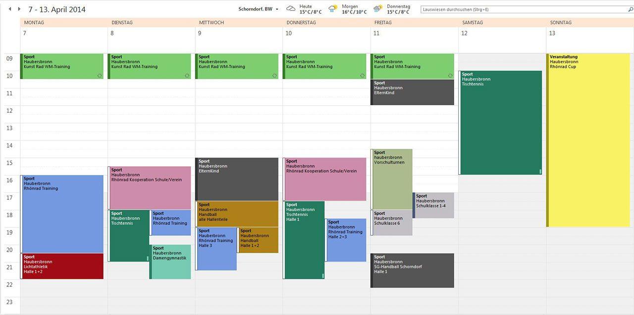 GLT Belegzeitenplanung mit Outlook